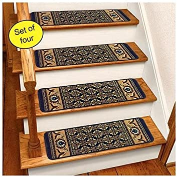 Amazon.com: Blue Rug Carpet Stair Treads Set Of 4 CST260B: Home Improvement