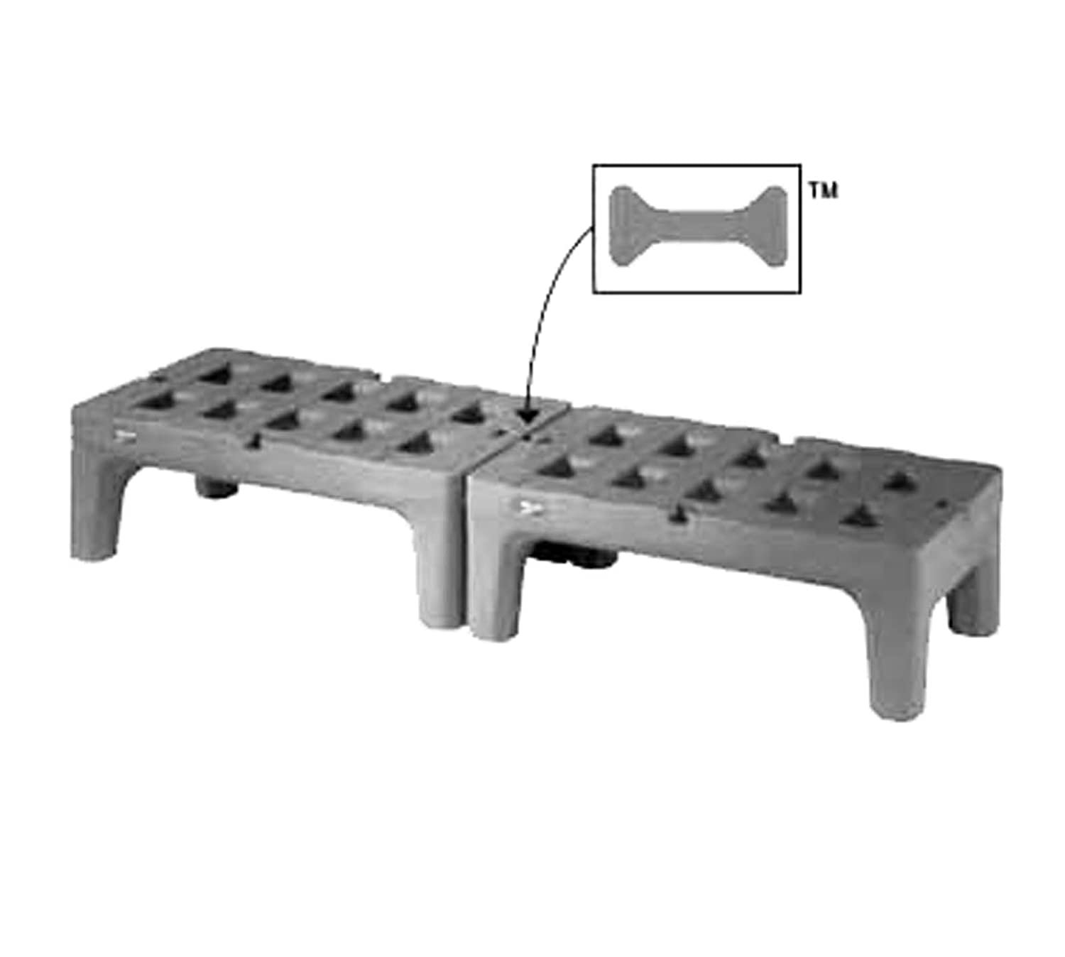 Metro Hp2248pd Poly Bowtie Dunnage Rack 48 D 3000 Lbs Capacity Industrial Scientific