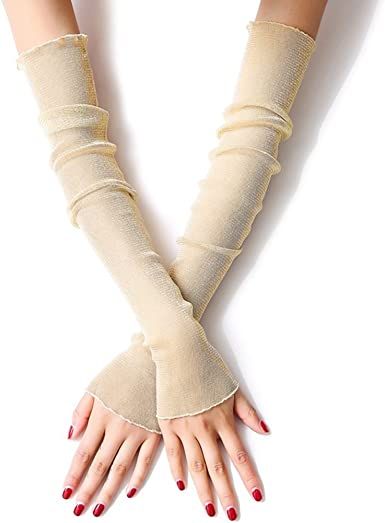 LJSLYJ Damen Spitze Armstulpe Atmungsaktiv Armschutz Anti-UV Schutzt Abdeckung f/ür Outdoor Sports Arme K/ühler Sportstulpe Arms Sleeves 1 Paar