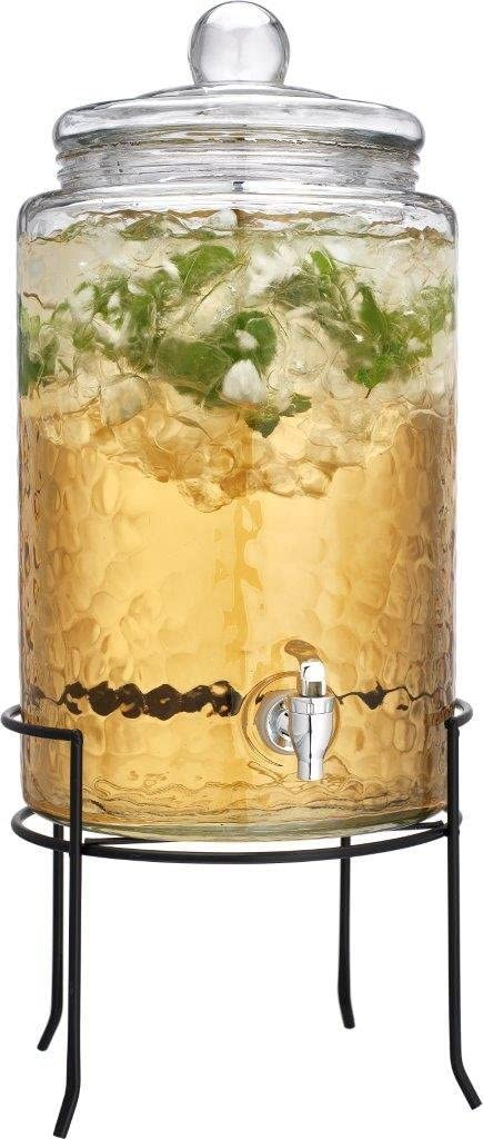 HC Classic Beverage Drink Dispenser Hammerd Durable Glass on Stand 3 Gallon with Spigot
