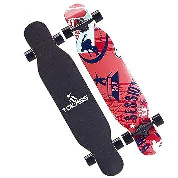 Scooter de Equilibrio de Cuatro Ruedas, Patinaje de Carretera para Hombre y Mujer Pincel de Baile Callejero Longboard patineta de Arce, ...