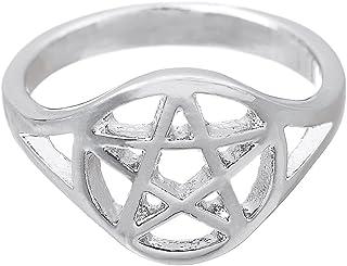 Skyrim Anello di Moda Pentagramma Wicca Witchcraft Pagan Anello per Uomo e Donna (Taglia 7.5) YI WU KE JI