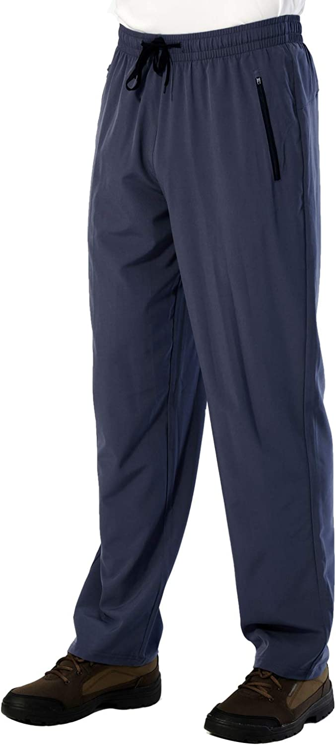 LABEYZON Men's Workout Sweatpants Quick Dry Lightweight Athletic Pants with Zipper Pockets
