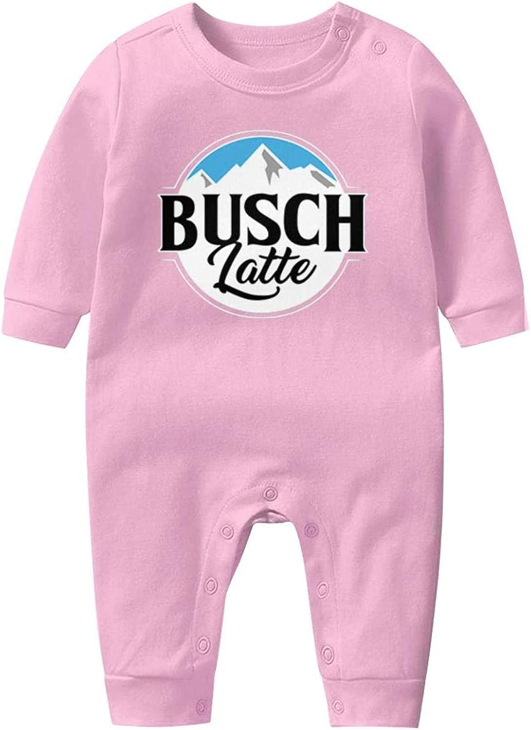 Pajamas for Baby Boy Girl YRHDIWOCJ Unisex Baby Funny Long Sleeve Footed Pajamas Busch-Brewery-Lights-Beer