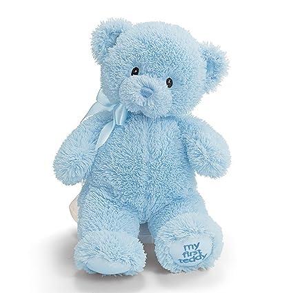 Amazon gund my1st teddy blue 10 plush toys games gund my1st teddy blue 10quot thecheapjerseys Choice Image