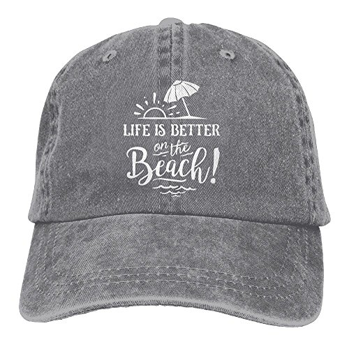 5a9a0e8b420 HHNLB Life Is Better On The Beach-1 Vintage Jeans Baseball Cap For Men and
