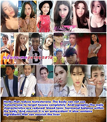 Natural Herbal Ladyboy Anti Testosterone Shemale Sex Change Reduce Acne Body Hair Smooth Muscle and Body Breast Enlargement Cross Dressing Natural Effective 30 Capsules