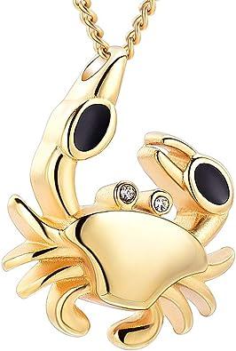 Memorial Charm Crab Shape Urn Cremation Jewelry Memorial Pendant Keepsake
