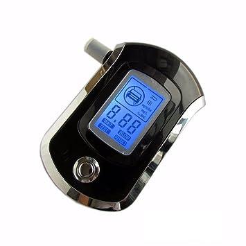 WSHA Alcoholímetro, Alcoholímetro De Aliento Inteligente, Analizador De Alcoholemia Digital LCD, Detector De Alcohol De Batería, Rastreador BAC con 5 ...