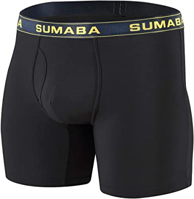Atmungsaktive Slip Herren Nylon Underwear Langbein Boxer Sport Running Unterhose