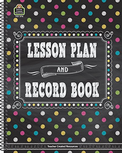 School Record Book - Chalkboard Brights Lesson Plan and Record Book
