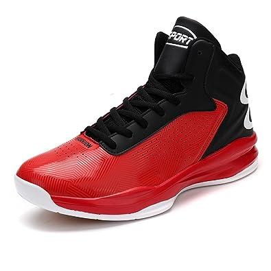 ASHION Herren Basketballschuhe Sneakers Ausbildung Outdoor Turnschuhe, 1-rot, 44 EU