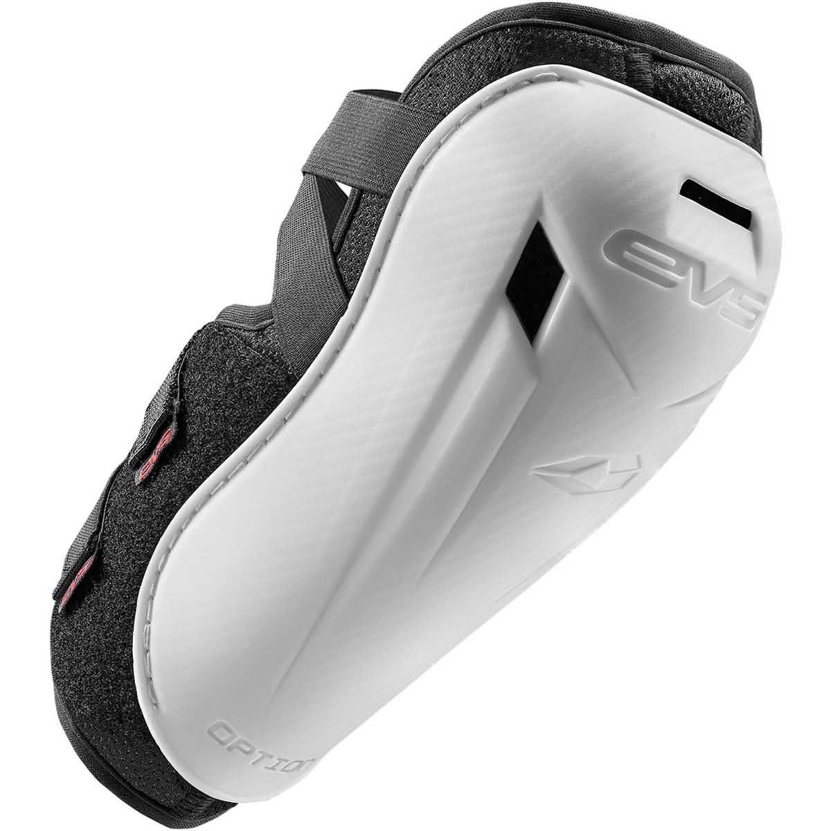 EVS 2016 Option Youth Elbow Guard Off-Road Motorcycle Body Armor - White/One Size