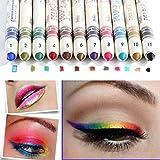 CINEEN Set di matita per Occhi / Sopracciglia / Labbra / Eyeliner, 12 colori Penna Ombretto Duraturi Trucco Natura