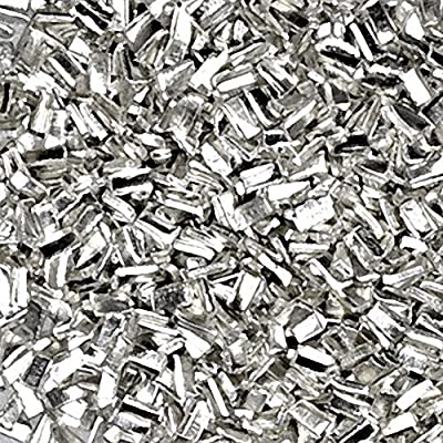 Silver Solder Ultra Tiny Precut Pieces 0.5mm X 1mm X .25mm Easy Density Chip (Qty=1500) by uGems from uGems