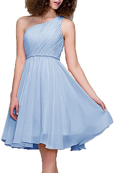 Review 99Gown Cocktail Dress One Shoulder Prom Formal Dresses For Women Bridesmaid Dresses Short