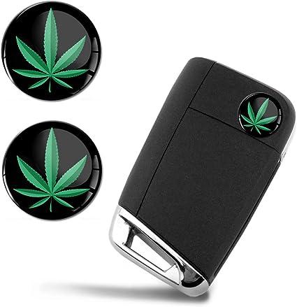 SkinoEu® 2 x Ø14mm Marihuana Marijuana Hierba Cannabis Weed Rasta ...