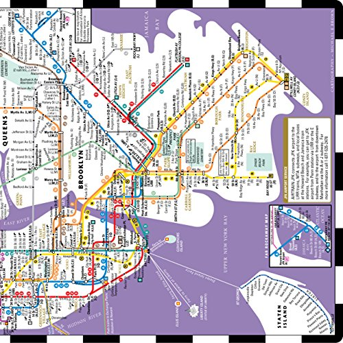 Subway Map From New Jersey To New York.Streetwise Transitwise New York City Subway Map Manhattan Import