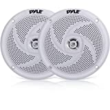 Pyle Marine Speakers - 5.25 Inch 2 Way Waterproof and Weather Resistant Outdoor Audio Stereo Sound System with 180 Watt Power