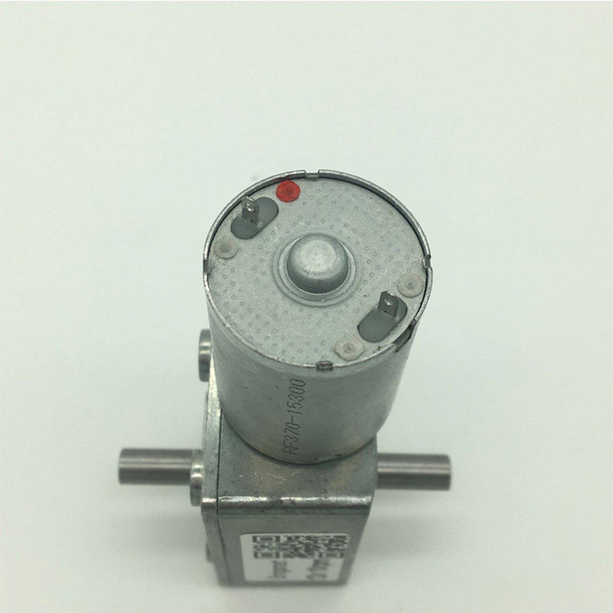 Bringsmart 6V Double Shaft Gear Motor 12V 24V DC Dual Output Shaft Reducer Self-lock (JGY-370 6V 6rpm) by Bringsmart (Image #3)