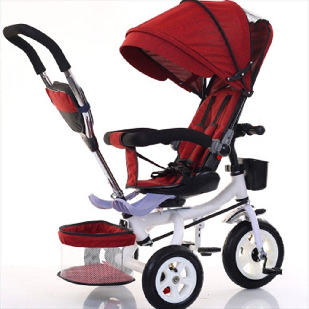 子供屋内屋外の小さな三輪車自転車の男の子の自転車の自転車6ヶ月-5歳の赤ちゃんの3つのホイールトロリー、ダンピング/回転シート/インフレータブルホイール (色 : 3) B07DVB69GF 3 3