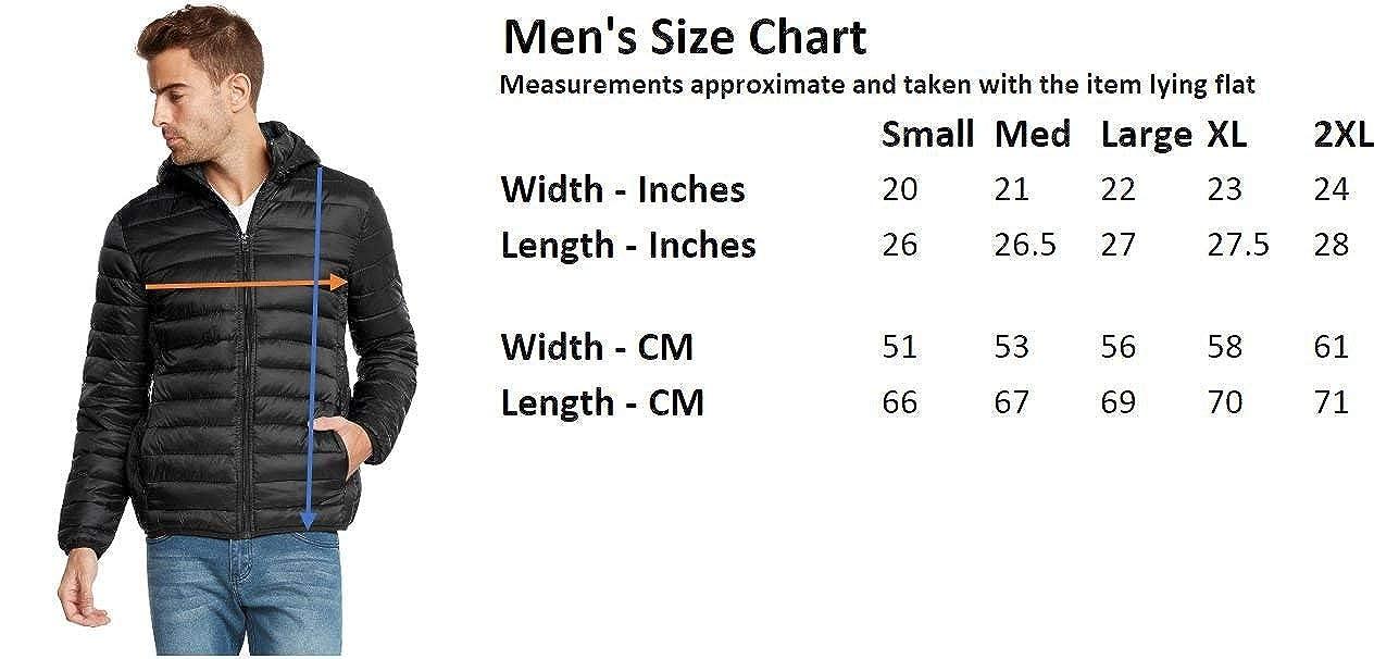 9 Crowns Mens Lightweight Puffer Puffy Jacket