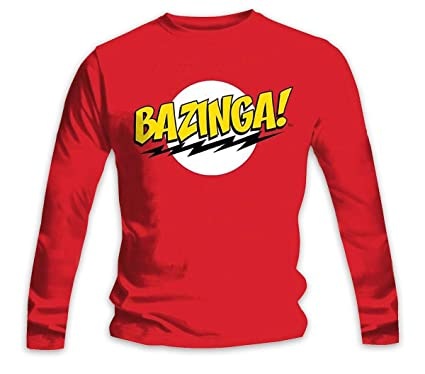 5dd5a9100f80 Amazon.com: The Big Bang Theory Longsleeve Shirt Bazinga! Special ...