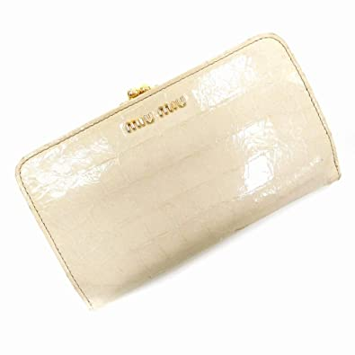 buy popular 73583 24722 Amazon   (ミュウミュウ) Miu Miu 二つ折り財布 がま口財布 ...