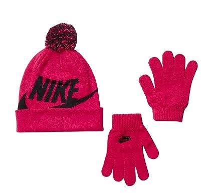 845cfc72502b10 Amazon.com: Kids' Nike Swoosh Pom Beanie Hat and Gloves Set : Clothing