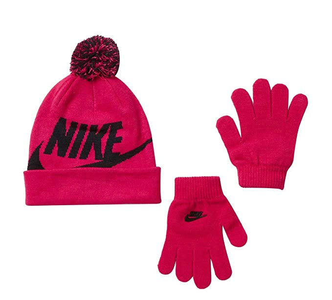 4d2a566ca Kids' Nike Swoosh Pom Beanie Hat and Gloves Set