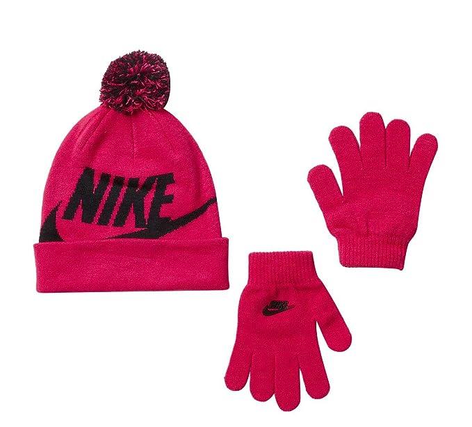 67cabe050 Kids' Nike Swoosh Pom Beanie Hat and Gloves Set