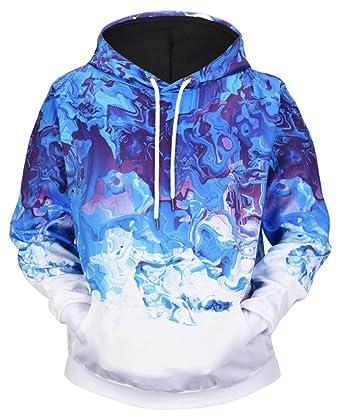 Ocean Plus Herren Casual Kapuzenpullover Aufdruck Pulli Motiv Hoodie  Tierdruck Sweatshirt Streetwear Pullover mit Kapuzen Herrenhemd b3d2bbf15d