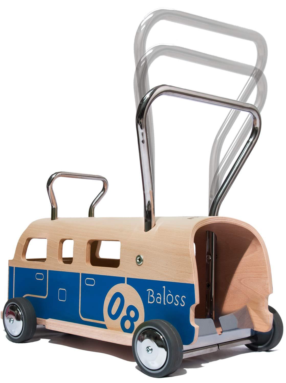 3 en 1 Andador + furgoneta + correpasillo Baloss 8 de madera ...