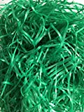 New Reusable Shredded Plastic Easter Grass great for Gift Bags & Boxes or Wedding Basket Filler (Green) 3.25oz (92.1 grams) per bag