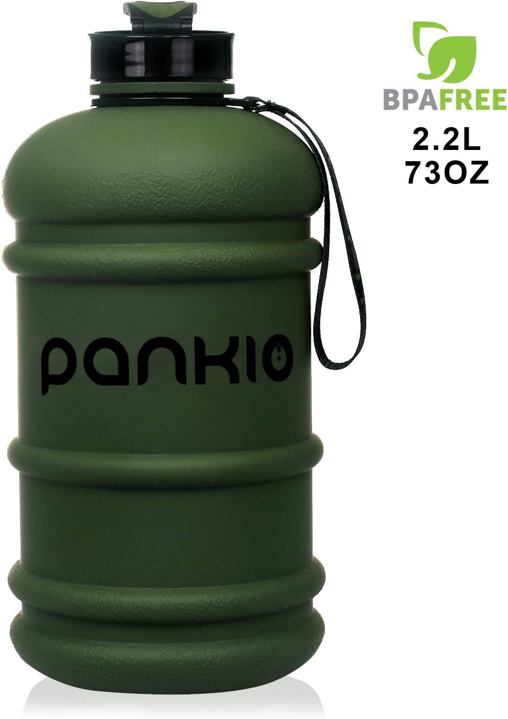 PANKIO Water Jug 2.2L Big Water Bottle 73OZ Half Gallon Sports Water Bottle Big Capacity Leakproof Container BPA Free Water Bottles for Fitness Gym Yoga Travel Cycling Camping Outdoor