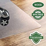 """Polycarbonate Office Chair Mat for Hardwood Floor, Floor Mat for Office Chair(rolling chairs)-Desk Mat&Office Mat for Hardwood Floor-Sturdy&Durable,Shipped Flat:40""""x48"""""""