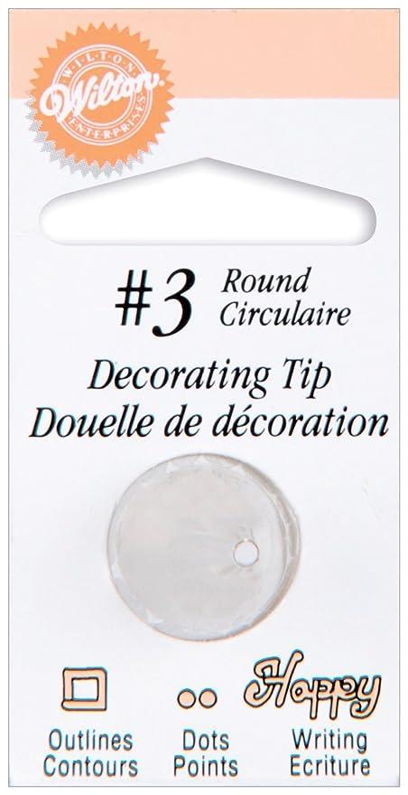 Wilton Round #3 Decorating Tip Baking Tools & Accessories at amazon