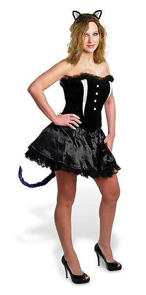 2409d16497 Amazon.com  Sunnywood Women s Lava Diva Cat Corset Costume  Clothing