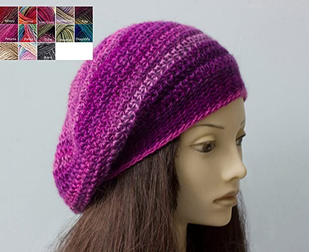 97d58e8a6ce Image Unavailable. Image not available for. Color  Crochet Beret