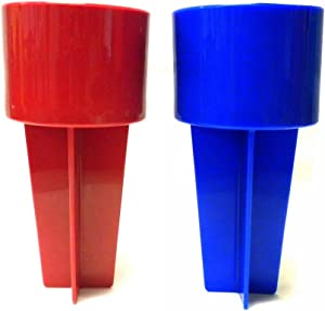 Set of 2 Assorted Colors Spiker Beach Beverage Holder