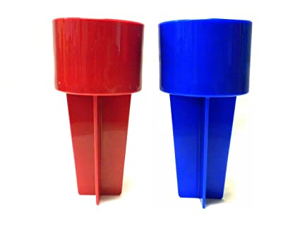 Amazoncom Set Of 2 Assorted Colors Spiker Beach Beverage Holder