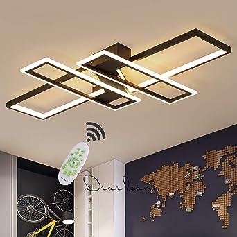 Lamparas De Techo LED Modernas 80W Control Remoto Regulable Luz De ...