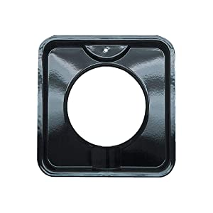 Range Kleen P400 Black Porcelain Square Style I Gas Drip Pan 7.75 Inches