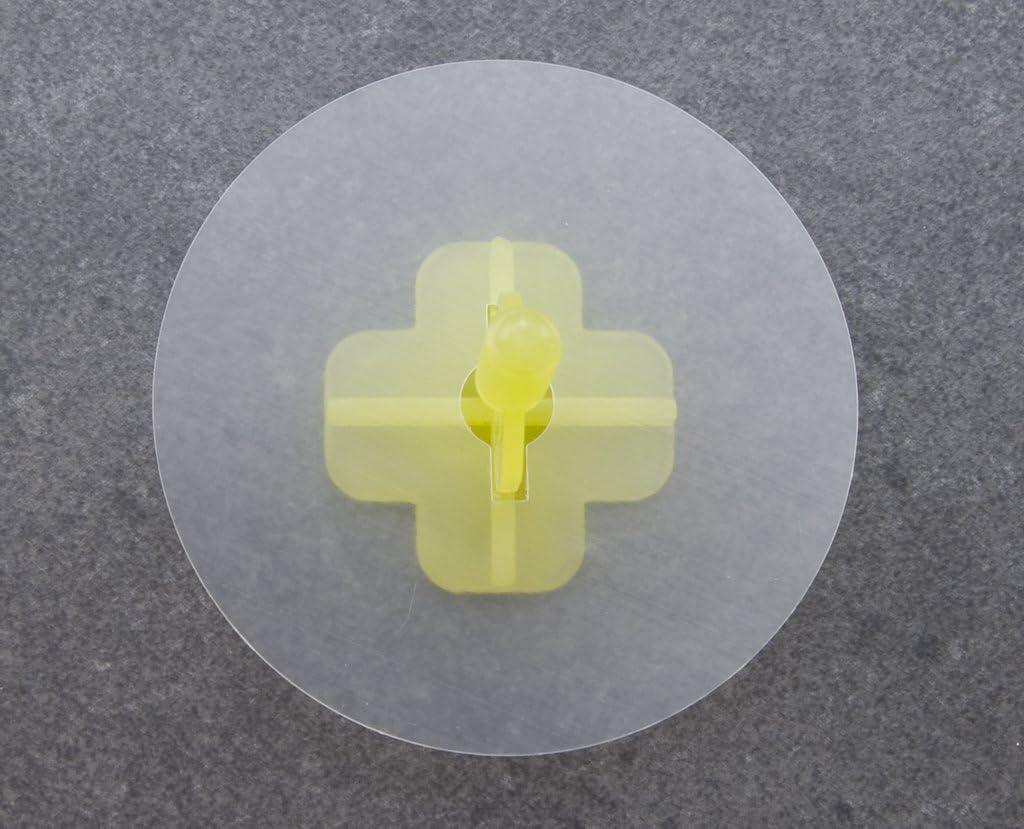 Nivifix Brunoplast Lot de 100 rondelles de nivellement pour carrelage Noir et gris