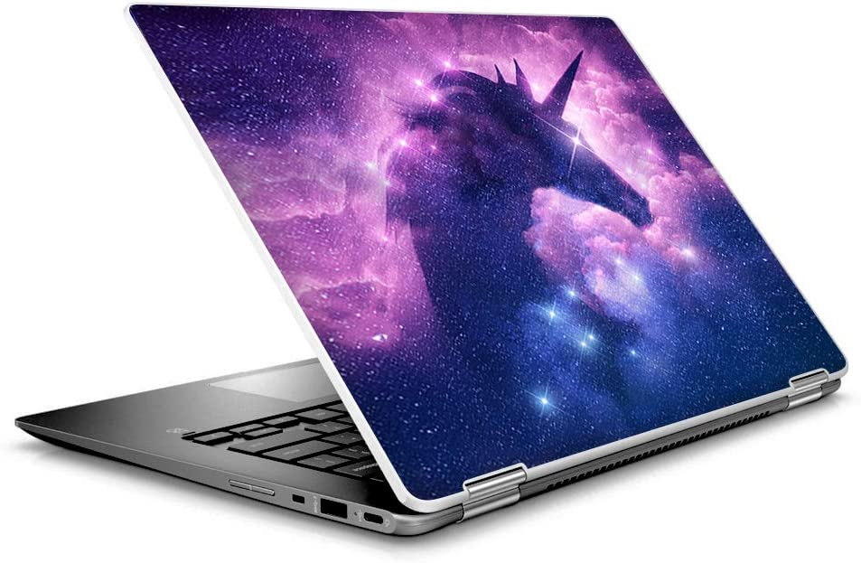 "Laptop Notebook Skin Vinyl Sticker Cover Decal for 14"" HP 2 in 1 Touchscreen Chromebook x360 - Unicorn Galaxy Cosmic Nebula"