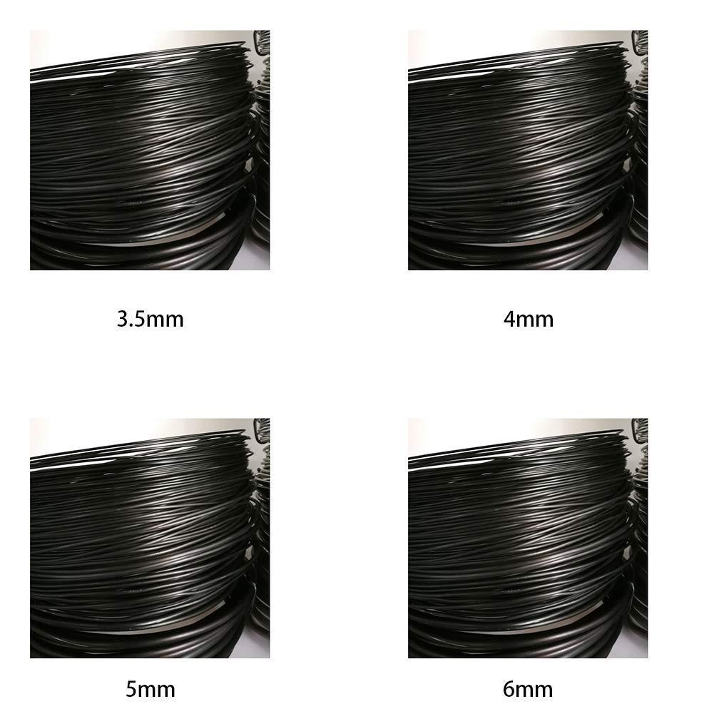 Matedepreso 1 Rollo Flexible Bons/ái Hilo Aluminio Bons/ái Entrenamiento Alambre Jard/ín Bricolaje Herramienta con 4 Tallas 3.5mm,4mm,5mm,6mm 3.5mm Negro