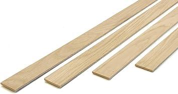 Wodewa Holzleisten Eiche Starkfurnier Echtholz 3mm X 30mm X 500mm 15er Set Leisten Bastelholz Massivholz Holzfurnier Zum Basteln Bastelset Modellbau Diy Amazon De Baumarkt