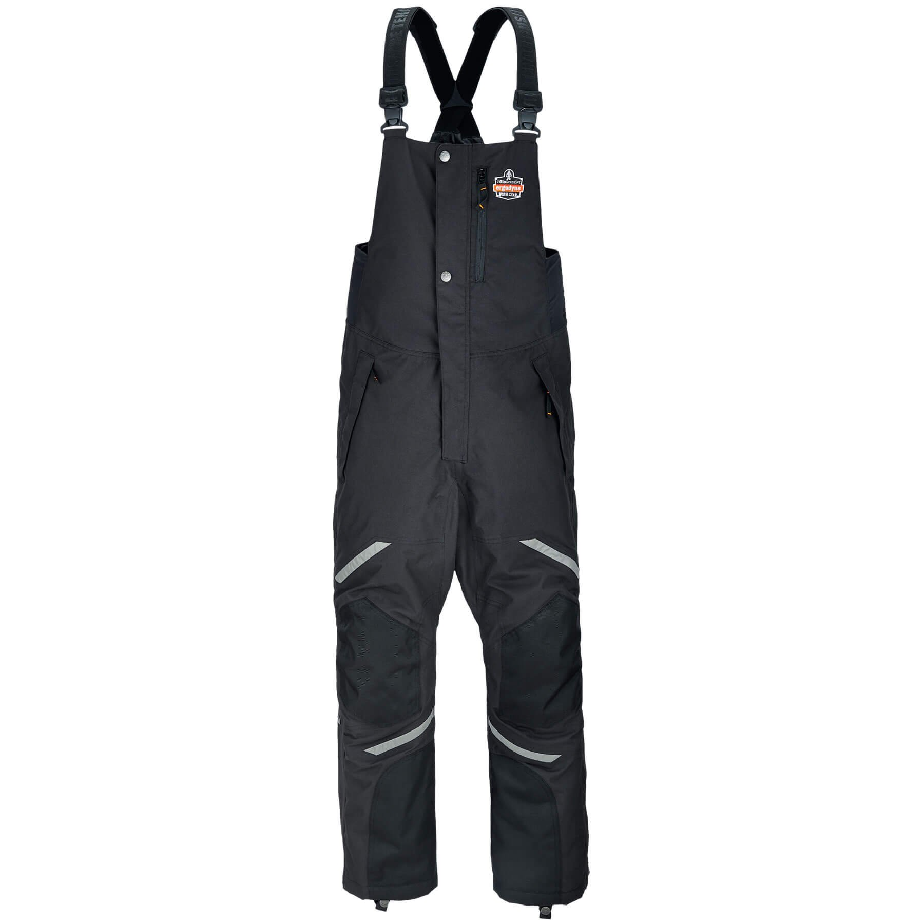 Ergodyne N-Ferno 6471 Men's Winter Thermal Work Bib Overalls, Black, Large