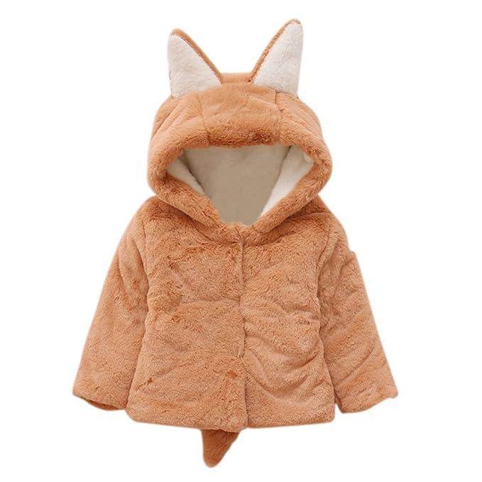 Brightup Bebé niño niña otoño invierno encapuchados abrigo capa chaqueta gruesa ropa caliente 0-18 Mes: Amazon.es: Ropa y accesorios