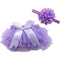 FENICAL Falda de tutú y Diadema de Flores Accesorios de fotografía de niñas bebé Vestido de cumpleaños recién Nacido…